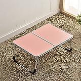 JINSHENG Computer - Tisch und Couch Tatami - Tabelle Outdoor - Ausflug Tabelle,Die veilchen,52 × 6,5 × 30