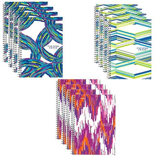 Mead Five Star Spiralbuch mit Taschen, 12 Stück (Fünf Star 2 Tasche & Stift-ordner)
