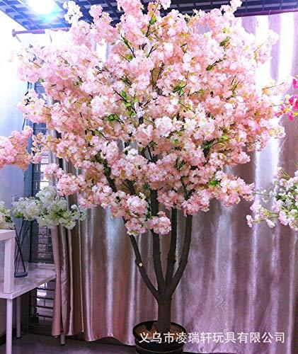 Zhihuoyou Romantische volle Haus 4 Gabel Simulation Kirschblüte Zweig Großhandel Hochzeit Bogen Straße Blei Kirschblüte gefälschte Blumendekoration eine Generation Haar (Großhandel Haar Bogen)