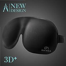 Schlafmaske, OriHea Absolute Dunkelheit Schlafbrille,3D PLUS groß Augenmaske, Augenabdeckung Augenbinde, mehr Platz für die Augen, festere Passform auf Ihrer Nase - für Damen & Herren