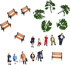 Segolike Bench Model 1:75 Tree Models People Figures for Diorama Wargame Layout HO OO