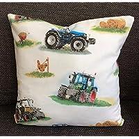 Kinderkissen/Dekokissen Traktoren,Traktor Kinder, Bauernhof, Geschenk für Jungen