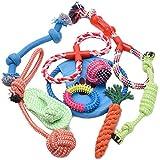 WOLFWILL Baumwoll Haustier Spielzeug Set-10 Pcs für kleine und Mittlere Hunde,Wasserdicht