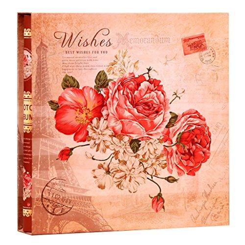 FOOHAO- Insérez un album photo blanc couverture en carton de noyau de particules pour accueillir 1198 photos 5 6 7 8 10 10 pouces Mixed Home Business Albums