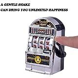 Kreatives Geschenk Cute Slot Maschine Extrakt Toy (5x 2x 7cm), mamum Mini Glück Jackpot Slot Maschine lustiges Geschenk Fruit Slot Maschine Würfel Karten Spiele Einheitsgröße silber