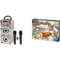 DYNASONIC Altoparlante Bluetooth portatile per karaoke con microfoni inclusi | USB e lettore SD, radio FM modello 025…