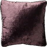 McAlister Textiles Luxury Kollektion | Glänzender Samt Kissenbezug | 40cm x 40cm in Aubergine Violett | Deko Kissenhülle für Sofa, Couch, Sessel, Kissen in luxuriösem Designer Plüsch
