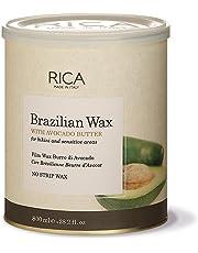 Rica Brazilian Wax with Avocado Butter for Bikini and Face, (800ml, 28.2oz)
