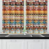 JOCHUAN Tende Etnico di Arte Tribale di Boho Tende della Finestra della Tenda per Il caffè, Bagno, Lavanderia, Soggiorno Camera da Letto 26X39 Pollici 2 Pezzi