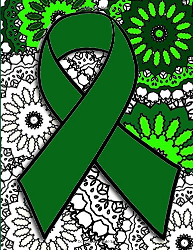 on Adult Coloring Book (Green Awareness Ribbon)