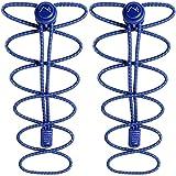 CampTeck Lacets Autobloquants - Lacets Elastique avec Système Verrouillage sans Nœud idéal pour Enfants, Adultes, Personne Agées, Coureur Marathon, Chaussure Sportives - Blue (1 Paire)
