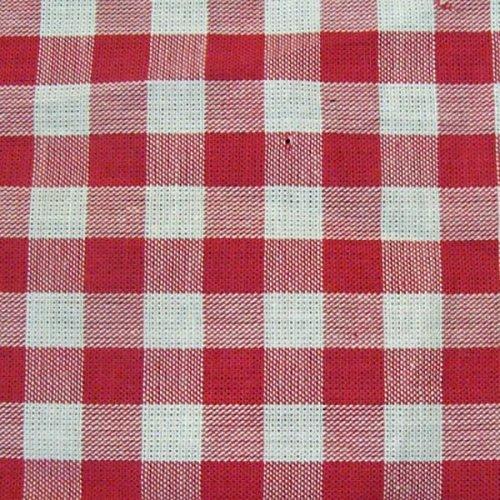 Baumwollstoff Züchen Meterware Vichy Karo groß Rot-Weiss