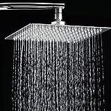 S R SUNRISE Alcachofa fija para ducha Acero inoxidable rectangular 10 pulgadas SRSH1203