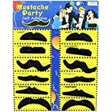 Haobase 12Pcs Adhésif Assorti Black Moustaches Fancy Dress Costume Accessory