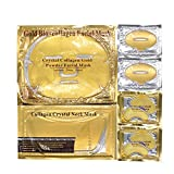 Aliver 24k Gold Bio-collagen Face Facial Mask + Gold Collagen...