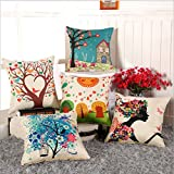 #10: Style Crome Multi Color Ethnic Cushion Cover With Fillers 20X20 (Set Of 5)