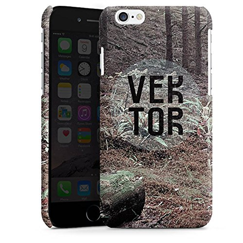 Apple iPhone 6 Housse Étui Silicone Coque Protection Arbres Forêt VEKTOR Cas Premium brillant