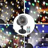 Projecteur de Noël Extérieur et Intérieur, Decoration Noel LED Projecteur de Neige, Sapin de Noël,Cloches, Wapiti, Plus de 10 Modes avec Télécommande Étanche IP65 pour Noël Décoration