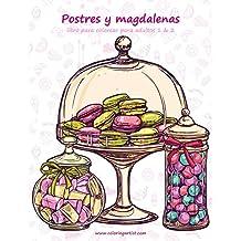 Postres y magdalenas libro para colorear para adultos 1 & 2