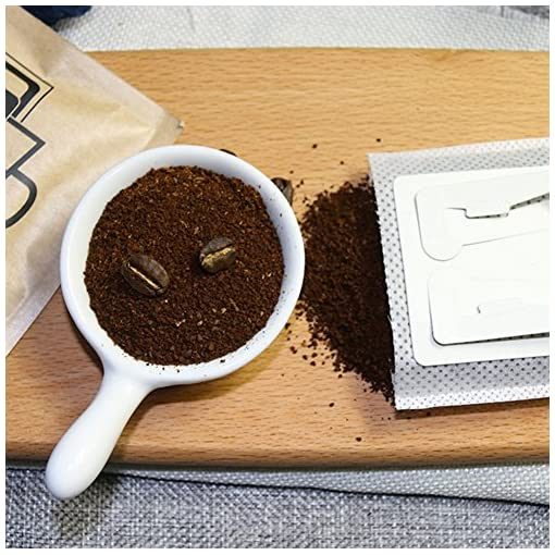 Cafe Premium Single Serve Disposable Drip Coffee Filter Bag – Hanging Ear Drip Coffee Bag – Tea Strainer & Filter – Perfect for Camping, Outdoor, Travel, Home, & Office – 50 Count