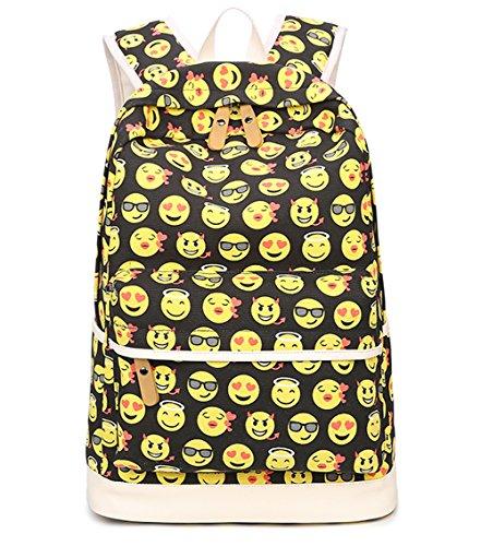 Imagen de tibes  de lona linda funny  emoji para niñas amarillo 1 pieza