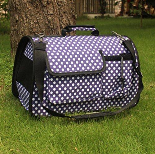 OOFWY Haustier-Rucksack/Art- und Weisebeiläufige Art/Katze und Hund-Spielraum-Paket/bewegliche einzelne Schulter-Beutel/Oxford-Tuch-Material, 18-L