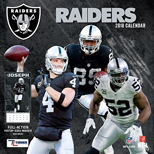 Oakland Raiders 2018 Calendar: Full-action Poster-sized Images!