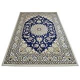 WEBTAPPETI Teppich Nain Position Persisch Blau Maßnahmen von cm.75x 240 cm. 160x230 2026-BLUE