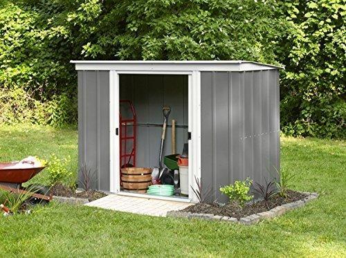 Arrow Gerätehaus PT 104 dunkelgrau/altweiß 3,41 m²