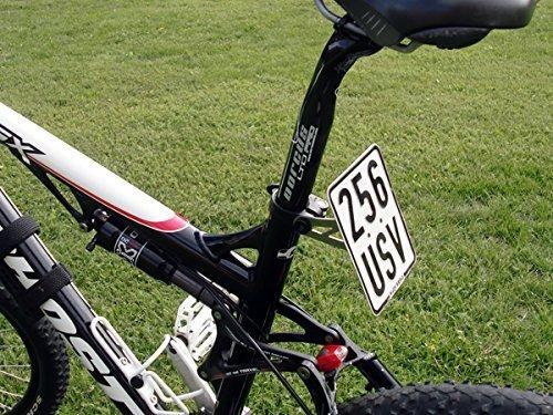 Preisvergleich Produktbild Kennzeichenhalter für E-Bike Ebike Elektro-Fahrrad Nummernschildhalter Versicherungskennzeichen Halter universal