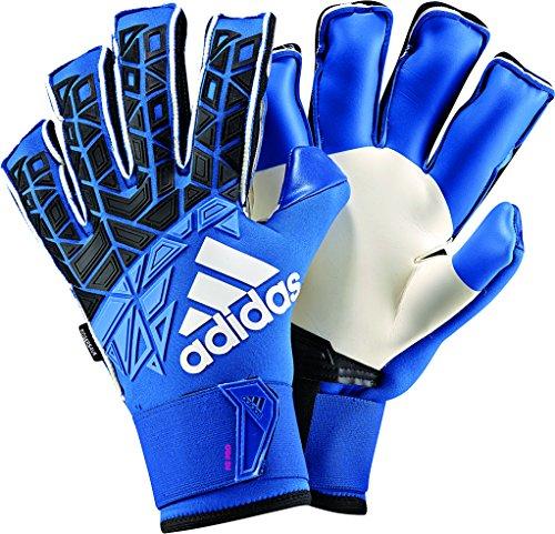 adidas Erwachsene Ace Trans Fingersave Torwarthandschuhe, Blue/Core Black/White/Shock Pink, 9