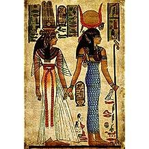 YongFoto 1,5x2,2m Fondos Fotograficos Antiguo Egipto Escena Murales Faraón Templo Jeroglífico Papiro