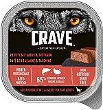Crave Hundefutter Nassfutter Adult 10 Schalen (10 x 300g)