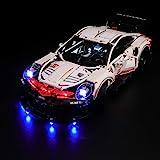 BRIKSMAX Kit di Illuminazione a LED per Lego Techinc Porsche 911 RSR, Compatibile con Il Modello Lego 42096 Mattoncini da Cos