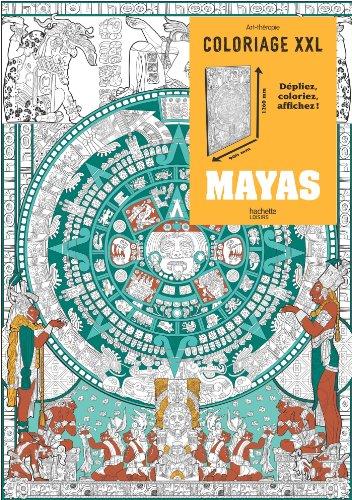 Mayas: Coloriage XXL par Michel SOLLIEC