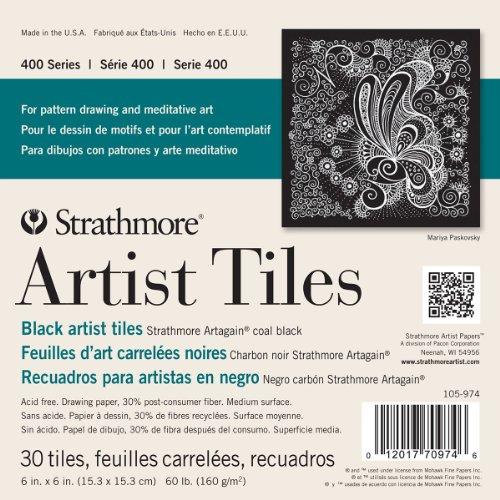 strathmore-artist-tiles-6x6-30-pkg-black