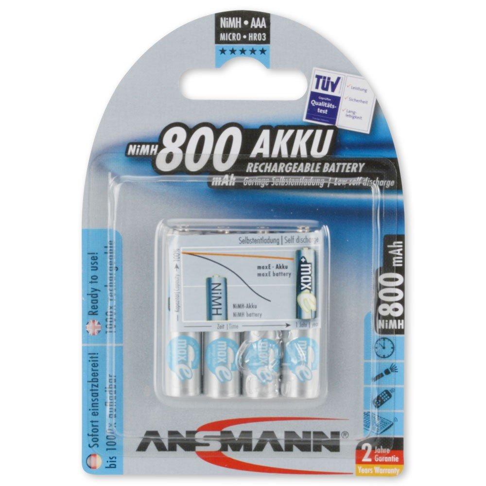 ANSMANN MaxE Mignon AA batteria ricaricabile 800mAh bassa autoscarica - pre-carica della batteria -
