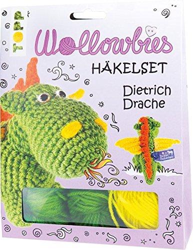 Fabelhafte Wollowbies Häkelset Dietrich Drache: Anleitung, Steckbrief und Material für einen süßen Drachen (Drache Amigurumi)