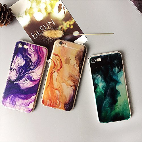 Coque iPhone 5 5s Housse étui-Case Transparent Liquid Crystal Gouache Art en TPU Silicone Clair,Protection Ultra Mince Premium,Coque Prime pour iPhone 5 5s-style 7 12