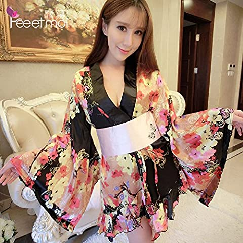 BTBT*Japanese kimono gown on stamp pack night shops of uniform temptation to role play adult fun underwear , full dress - are code