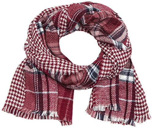 s.Oliver Damen Schal Double Face, Gr. One size, Rot (oxen blood check 49N1)