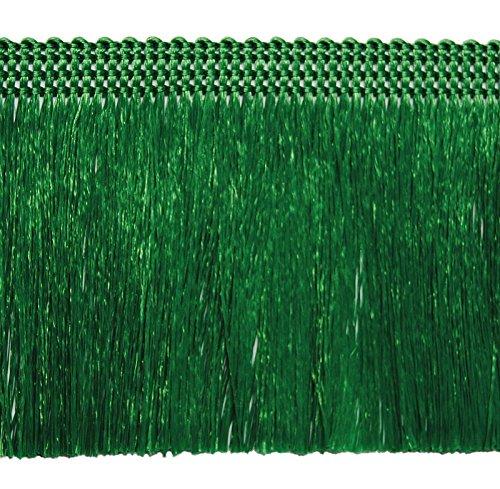 3,0 lfm Fransen 60mm breit / Länge 300 cm- 6,0 m- 9,0 m usw Farbe Grün / Fransenborte Posamentenborte Bordüre Decoborte Borte Spitzenborte Shabby Chic Brokat Spitze Antik Jugendstil Barock