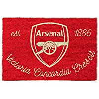1art1® Football Door Mat Floor Mat - Fc Arsenal 1886, Crest (24 x 16 inches)