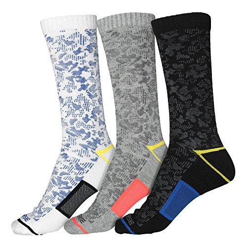 Converse Herren Socken 3-er Pack Camo Crew weiß grau schwarz, Größe:43-46 EU (Socken Camo)