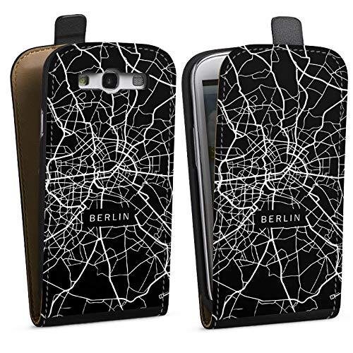DeinDesign Tasche kompatibel mit Samsung Galaxy S3 Flip Case Hülle Berlin Karte Stadt -