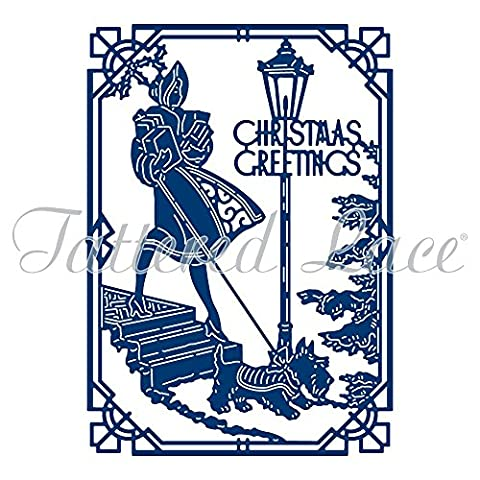 Tattered Lace Art Deco Christmas Greetings Craft Cutting Die TLD0560 - FREE 1st Class P&P
