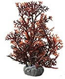 1 x Aquariumdekopflanze, dunkelrot, Aquariumpflanze Aquariumpflanzen Aquarienpflanzen, Kunstpflanze, Pflanze künstlich Dekopflanze