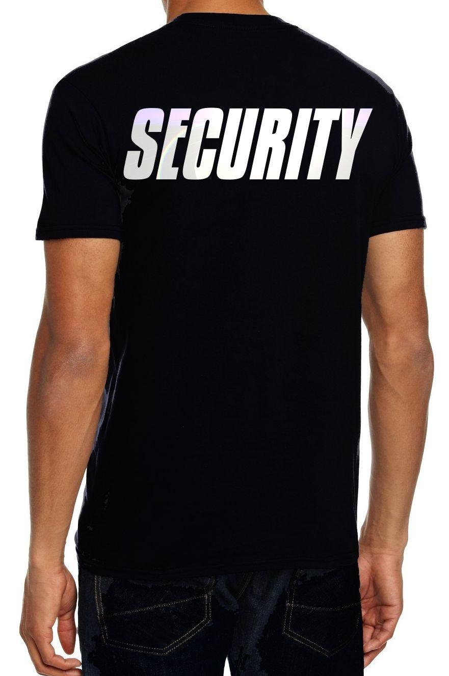 T-Shirt e cappellino con scritta Security, colore nero, taglie S M L XL XXL 3XL 4XL 5XL, con stamp