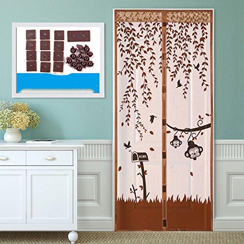 JIA-JV-GOOD Sommer - Fenster magnetische Anti moskito Vorhang, Küche, Schlafzimmer - Tür fliegen und mücken - Vorhang aus salmonellen-B-85x195cm(33x77inch)
