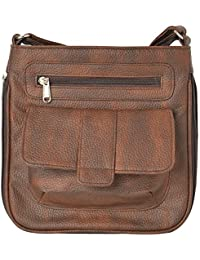 R.K. Leather Point Women's Brown Synthetic Leather Sling Bag
